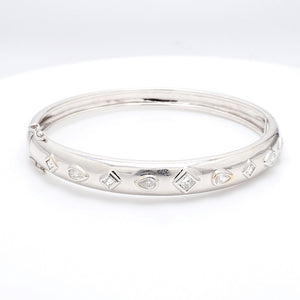 1.50ctw Pear, Princess, and Emerald Cut Diamond Bracelet
