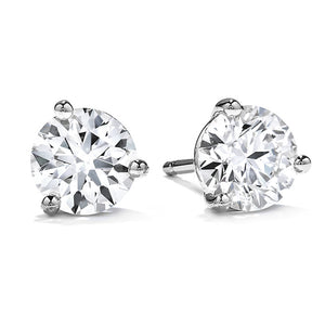 0.76ctw L SI2 Round Brilliant Cut, Diamond Stud Earrings