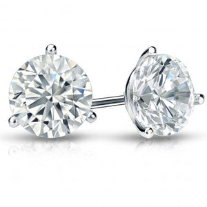 SOLD - 2.66ctw H I1 Round Brilliant Cut, Diamond Stud Earrings