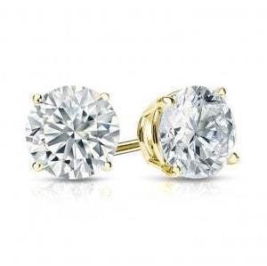 1.01ctw G I1 Round Brilliant Cut, Diamond Stud Earrings