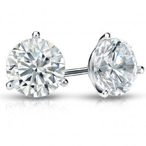 2.97ctw I VS1 Round Brilliant Cut, Diamond Stud Earrings