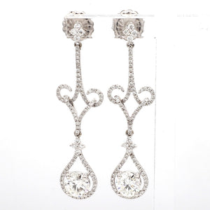 2.13ctw Round Brilliant Cut Diamond Earrings