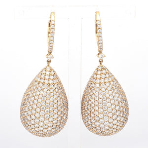 14.96ctw Pave Diamond Earrings