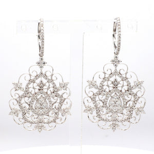2.30ctw Round Brilliant Cut Diamond Earrings