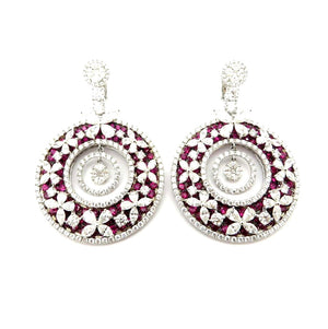 SOLD - 14.39ctw Ruby and Diamond Earrings