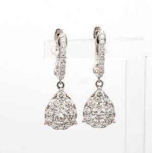 1.61ctw Round Brilliant Cut Diamond Earrings