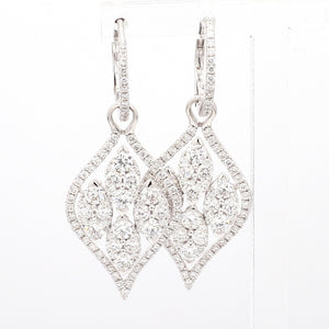 2.97ctw Round Brilliant Cut Diamond Earrings