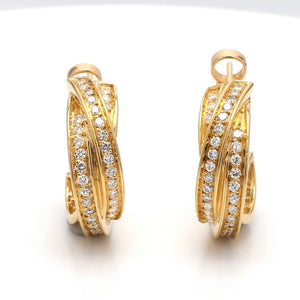 Cartier, Diamond Hoop Earrings