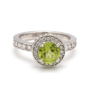 1.33ct Round Brilliant Cut Peridot Ring