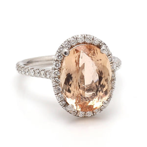 6.25ct Oval Cut Imperial Topaz Ring
