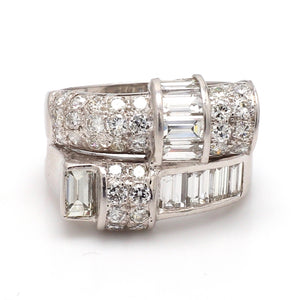 3.50ctw Baguette and Round Brilliant Cut Diamond Band