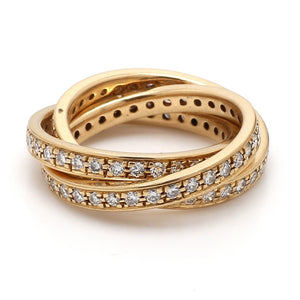 1.75ctw Round Brilliant Cut Diamond Rolling Band