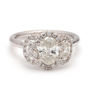SOLD - 1.71ctw Oval Cut Diamond Ring