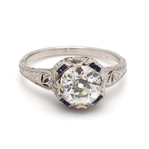 1.47ct Old European Cut Diamond Ring
