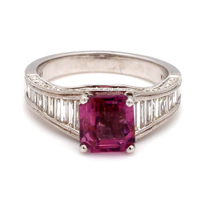 2.38ct Square Cut, Pink Spinel Ring