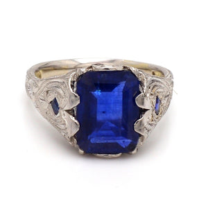 SOLD - 3.88ct Emerald Cut, Sapphire Ring