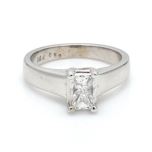 0.82ct F SI2 Radiant Cut Diamond, Solitaire Ring - EGL Certified