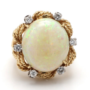 15.00ct Oval Cut, Opal Ring