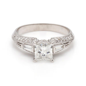 SOLD - 1.09ct D SI1 Princess Cut Diamond Ring - EGL Certified