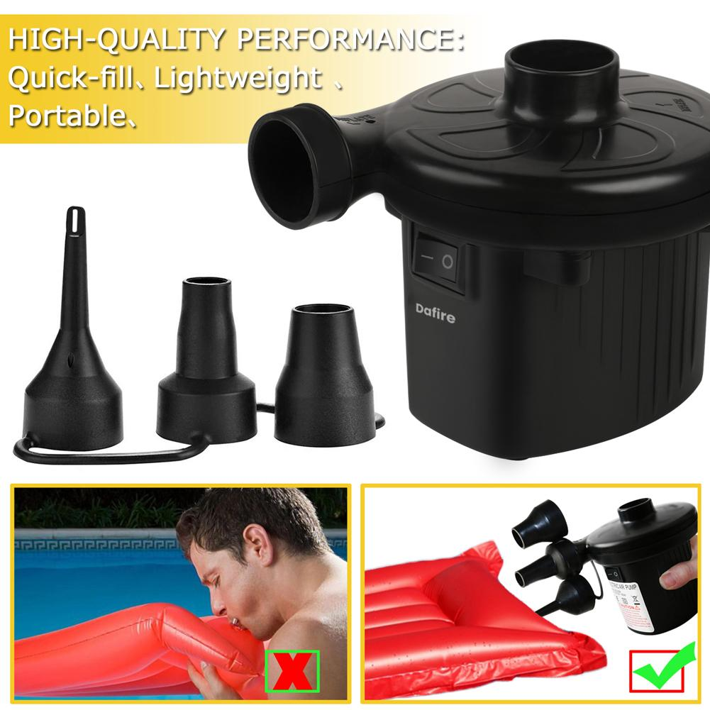 Electric Air Pump for Inflatables Paddling Pool Fast Inflator Deflator Air Bed