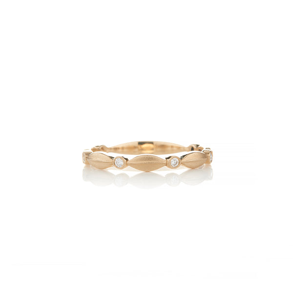 Brushed Gold Diamond Rings For Women - Sofia Jewelry