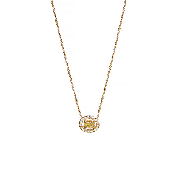 Gold Fancy Diamond Necklace - Sofia Jewelry