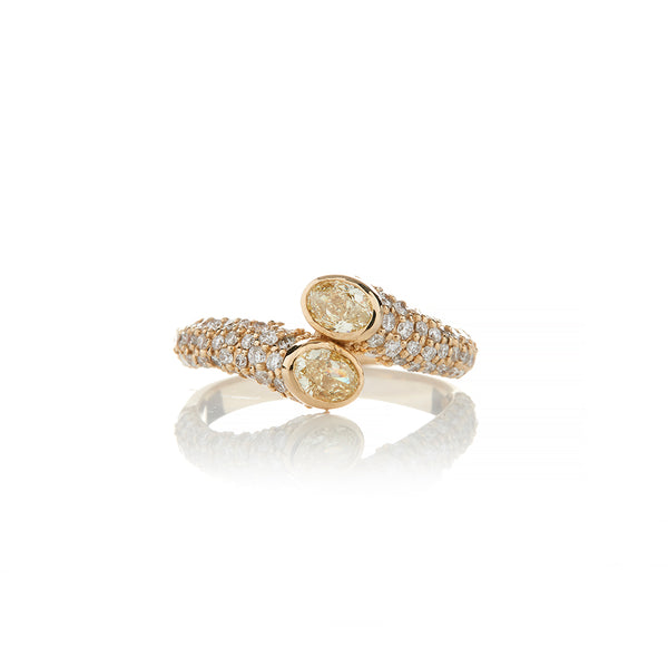 Gold Fancy Yellow Diamond Rings For Women - Sofia Jewelry