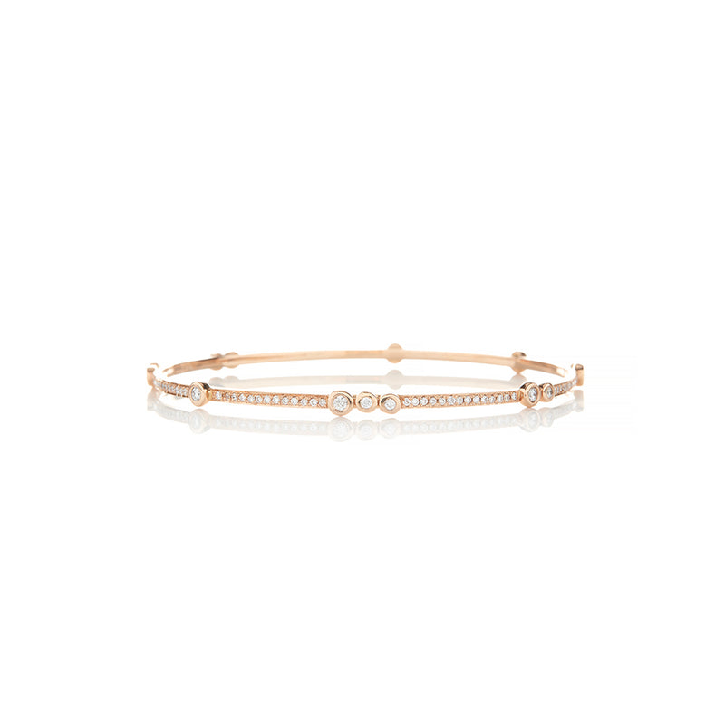 Rose Gold Diamond Bracelet - Sofia Jewelry