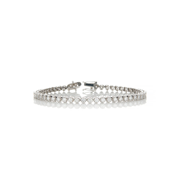 White Gold Diamond Tennis Bracelet - Sofia Jewelry