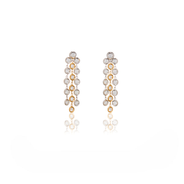 Two Tone Drop Earrings - Sofia Jewelry