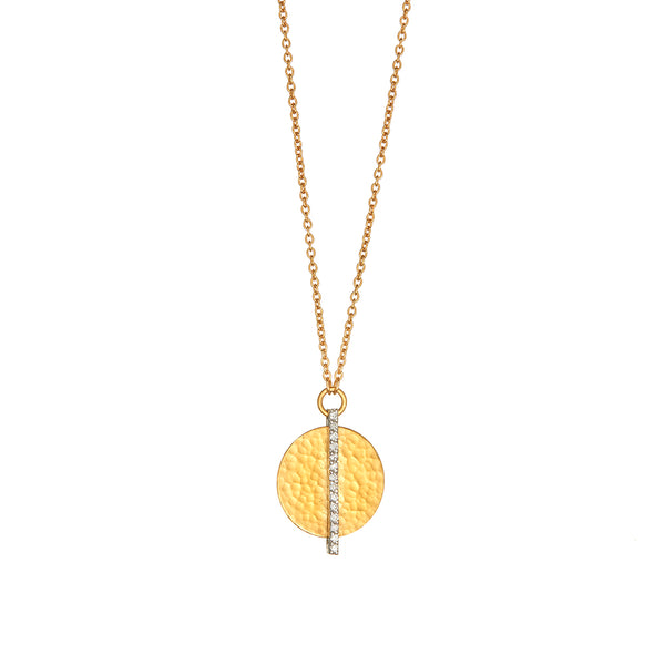 Gold Lush Pendant With Diamonds - Sofia Jewelry