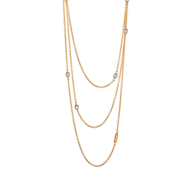 Gold Necklace With Diamonds - Sofia Jewelry