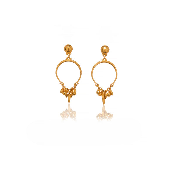 Gold Tassel Earrings - Sofia Jewelry
