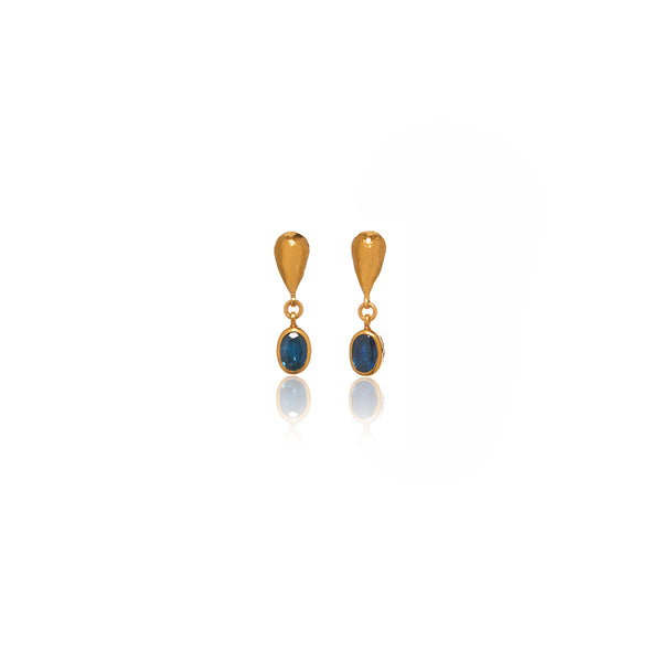 Gold Sapphire Earrings - Sofia Jewelry