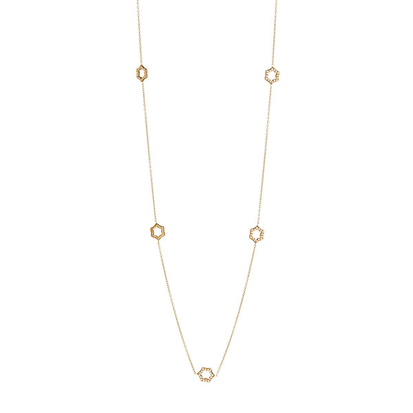 White and Rose Gold Diamond Necklace - Sofia Jewelry