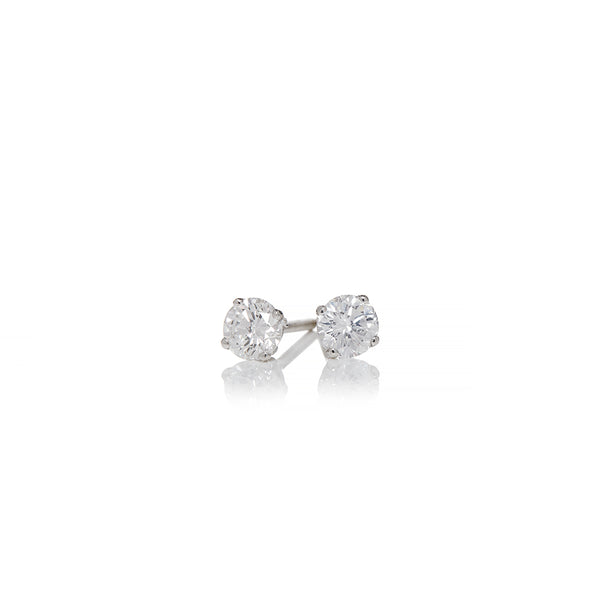 White Gold Diamond Stud Earrings - Sofia Jewelry