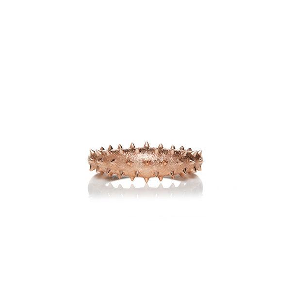 Rose Gold Spike Ring - Sofia Jewelry