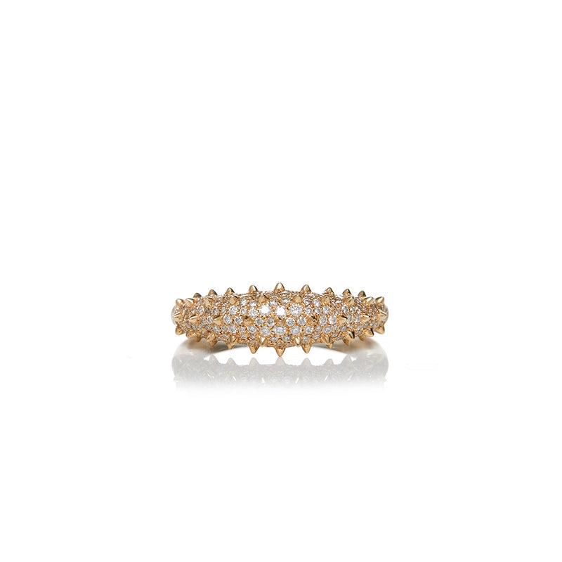 18 Karat Diamond Spike Ring