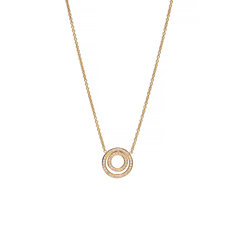 18 Karat Two Circle Necklace