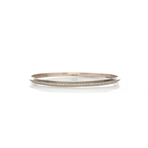 White Gold Diamond Bangle - Sofia Jewelry