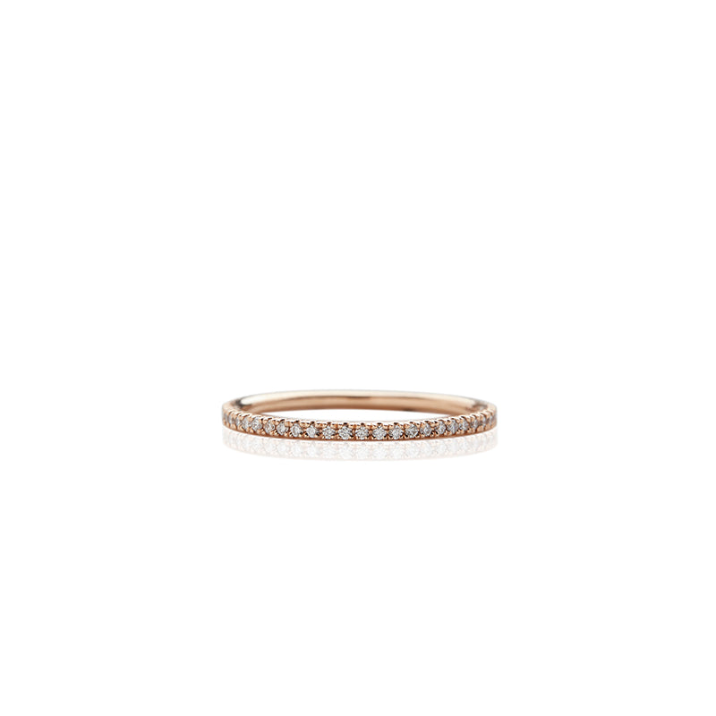 Gold Small Prong Set Band - Sofia Jewelry