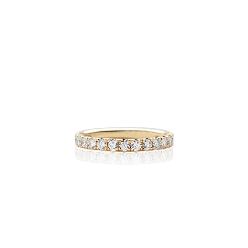 Gold Large Prong Set Band - Sofia Jewelry