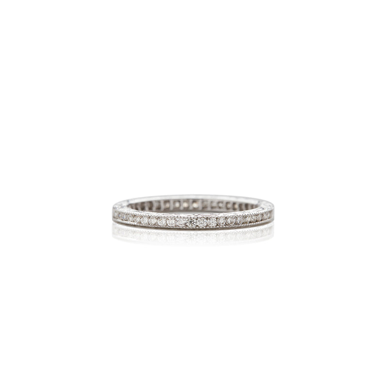 White Gold Diamond Scalloped Anniversary Band - Sofia Jewelry