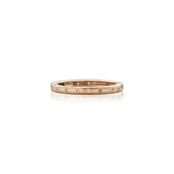 Gold Dunes Narrow Diamond Band - Sofia Jewelry