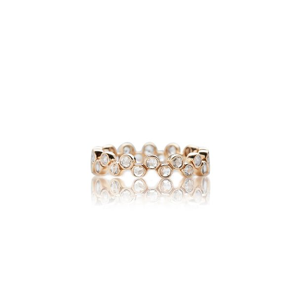 Gold Zig Zag Diamond Band - Sofia Jewelry