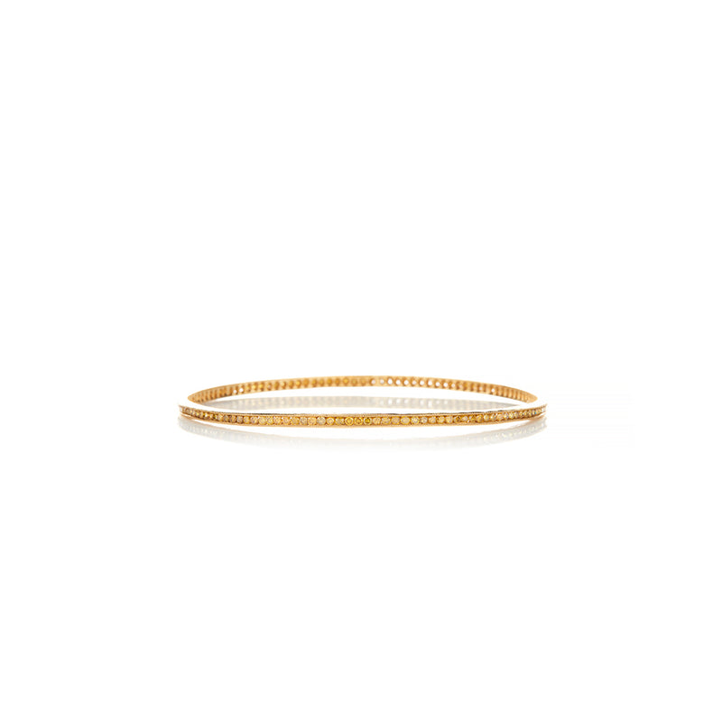 Gold Diamonds Bangle - Sofia Jewelry