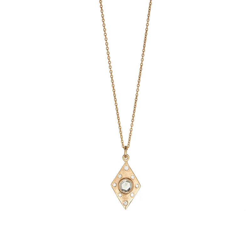 Gold Dunes Diamond Pendant - Sofia Jewelry