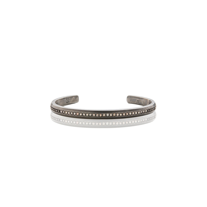 Sterling Silver Petite Diamond Cuff - Sofia Jewelry