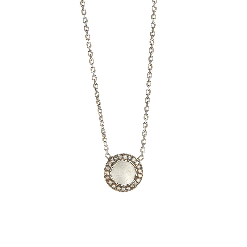 Sterling Silver Champagne Diamond Necklace - Sofia Jewelry