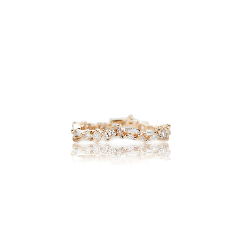 Yellow Gold Baguette Diamond Eternity Band - Sofia Jewelry